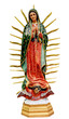 Our Lady of Guadalupe statue isolated