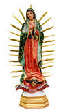 Our Lady of Guadalupe statue isolated - 185184290