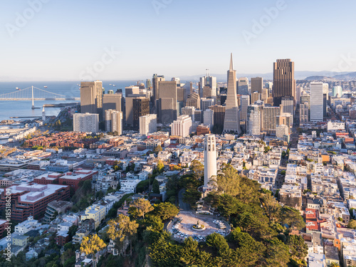 San Francisco Skyline Coit Tower