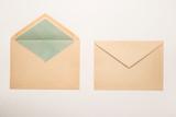 Fototapety Envelopes on white background