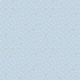 Magic golden stars and snow. Seamless vector pattern. Merry Christmas and happy New Year. - 185214215