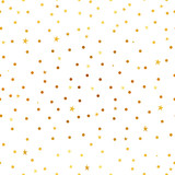 Magic golden stars and snow. Seamless vector pattern. Merry Christmas and happy New Year. - 185215887