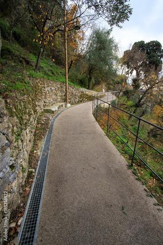 Foto op Plexiglas Liguria sentiero verso punta Chiappa - San Rocco, parco di Portofino