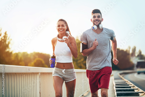 Fitness training for couple in love