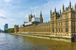 Cityscape of Westminster Palace and Thames River, London, England, United Kingdom