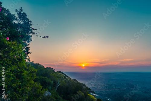 In de dag Groen blauw Shimla Hills in Afrika/Kenia