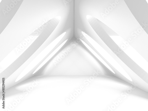 Abstract Modern White Architecture Background - 185294403