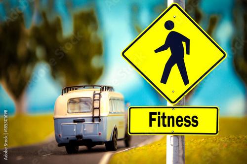 Fotobehang Fitness Schild 309 - Fitness