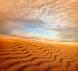 Sunset over the Sahara Desert - 185311864