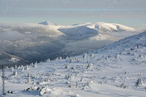 Winter Giant Mountains Poster