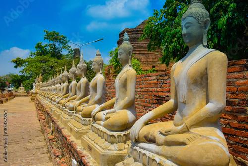 Tuinposter Boeddha temple in thailand (Pranakornsriayuttaya)