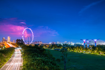 Traffic and Lightning in Singapore