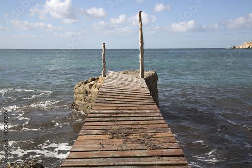 Pier at Cala d'Hort Cove, Ibiza