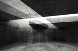 Abstract 3d dark concrete interior background