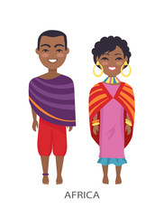 Africa People and Customs on Vector Illustration © robu_s