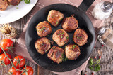 grilled beef meatball - 185359691
