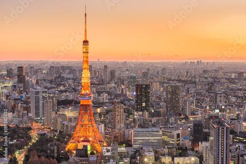 Poster Tokio Tokyo Japan Skyline