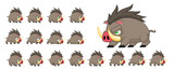 Boar Animated Game Character