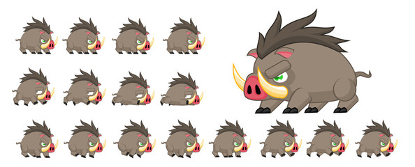 Boar Animated Game Character © pzUH