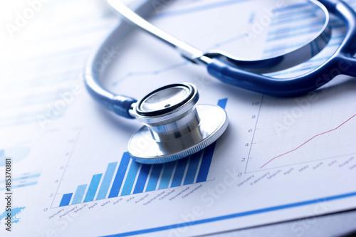Foto Murales stetoscopio, salute, medicina, controllo, analisi