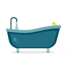 Badewanne Flat Design Sticker