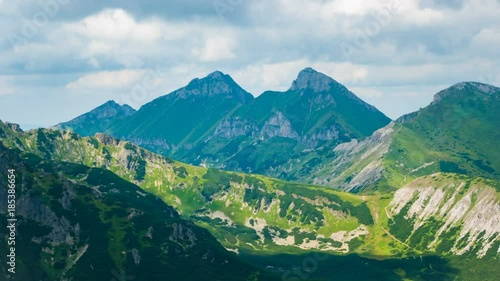 Timelapse - Mountain in High Tatras National Park, Slovakia
