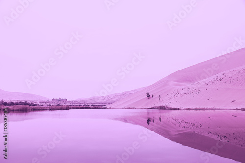 Aluminium Purper desert of badain jaran II, in the color of the year 2018
