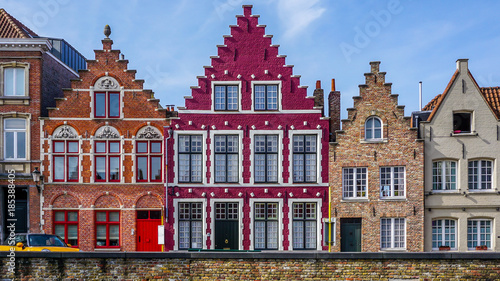 Fotobehang Brugge Iconic architecture and buildings in Bruges, Belgium