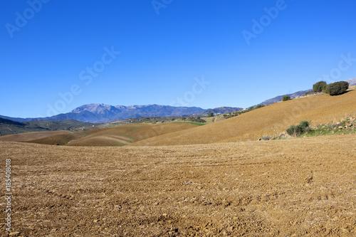Foto op Canvas Natuur mountain farmland
