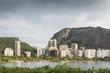 Quadro Frame of residential buildings overlooking Lagoa Rodrigo de Freitas, Rio de Janeiro, Brazil