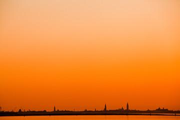 sunset sur venise