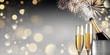 Leinwanddruck Bild - Champagner zum Fest