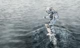 Astronaut on board. Mixed media - 185438646