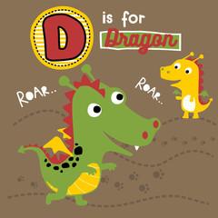 little twin dragon cartoon
