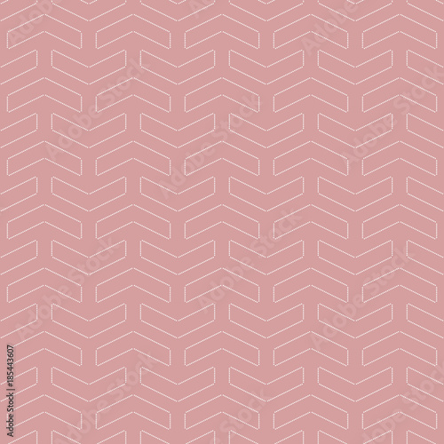 Geometric vector pattern with dotted white elements. Geometric modern ornament Seamless abstract background - 185443607