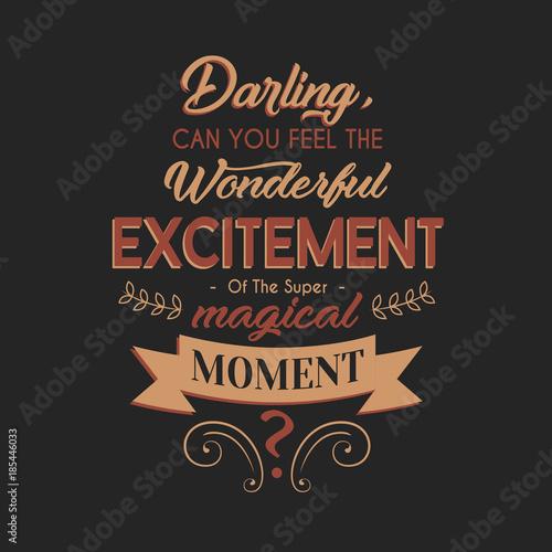 Wonderful Excitement Typography Design Poster