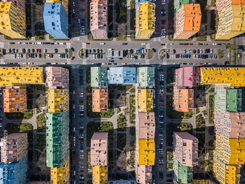 Fotobehang Kiev Aerial photo of cityscape