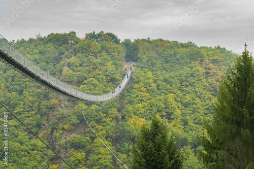 Suspension bridge in Geierlay, Germany