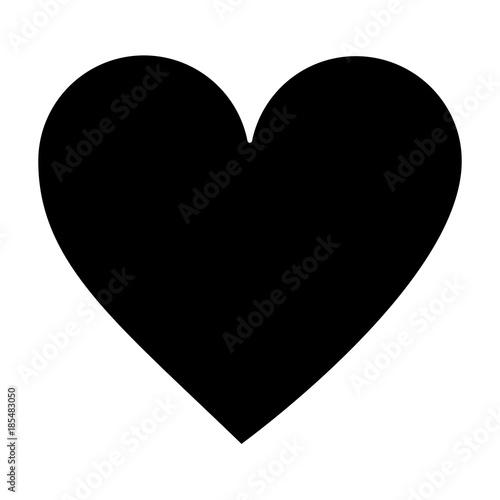 heart cartoon icon image vector illustration design black and white