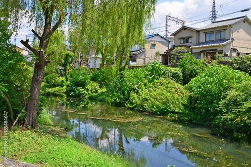 Fotobehang Kyoto Kyoto, Japan - august 8 2017 : Fushimi district