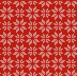 Nordic style vector ornament. Pullover style vector pattern. Christmas Seamless background