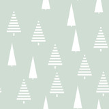 Christmas pattern with trees. Simple, winter background Seamless  illustration