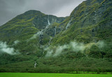 Scenery from Flam Line railway in Norway