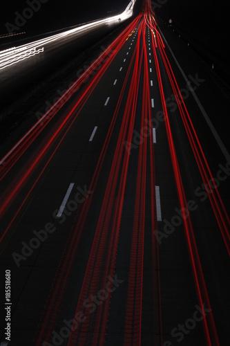 Fotobehang Nacht snelweg autobahn