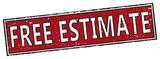 red free estimate square grunge sign - 185531410
