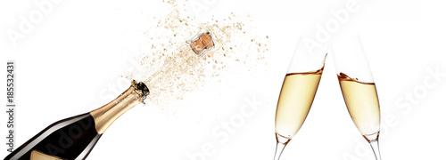 Leinwandbild Motiv Champagner zum Fest