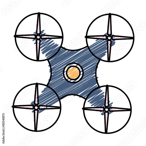 Fototapeta drone technology isolated icon