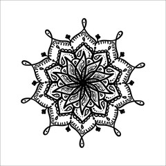 Mandala. Hand drawn ornament. Vector illustration.