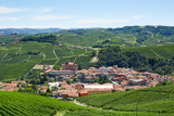 Barolo medieval town in Italy in a sunny day, Unesco heritage site