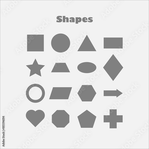 different geometric shapes for children fun education game for kids